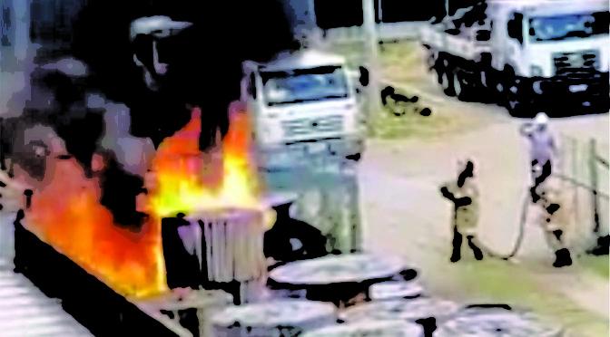 Princípio de Incêndio na ENEL, no bairro Gerador em Pádua