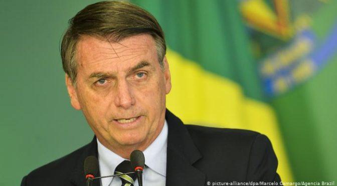 Bolsonaro diz que não nasceu para ser presidente, mas está aprendendo