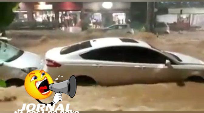 Com fortes chuvas atingindo Minas Gerais, Rio Pomba volta a subir em Cataguases e Pádua