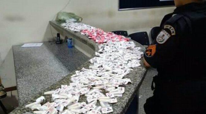 APÓS DENÚNCIAS PM APREENDE MAIS DE 400 PINOS DE COCAÍNA EM ITAPERUNA