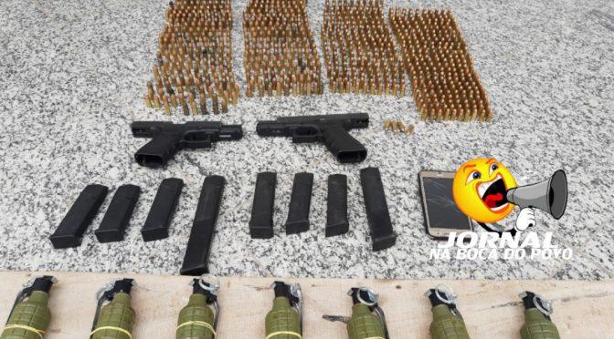 Armas, munições e granadas são apreendidos com mulher em Campos