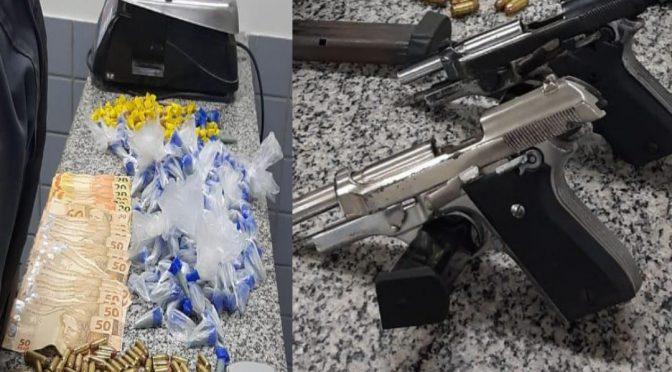 Armas drogas e munições são apreendidas em São Francisco de Itabapoana