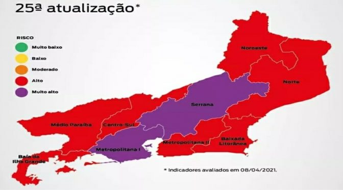 Mapa de risco da Covid-19: Região Norte volta para bandeira vermelha, região Noroeste permanece na bandeira vermelha