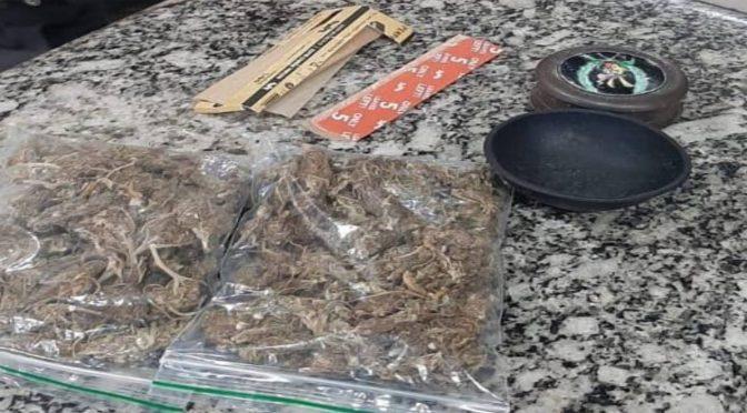 Homem é detido com 02 sacos plásticos de maconha em Venda das Flores em Miracema