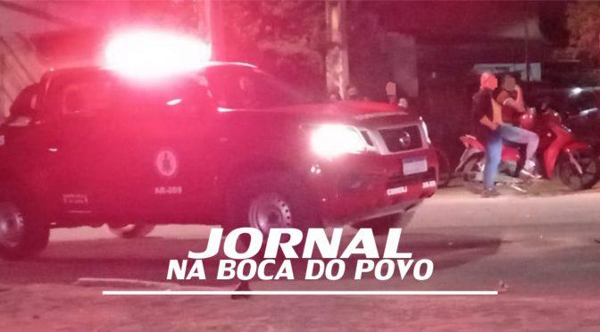 Colisão entre motos deixa um homem e uma mulher feridos próximo ao Fórum de Santo Antônio de Pádua